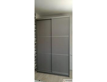 Шкаф-купе с серыми фасадами