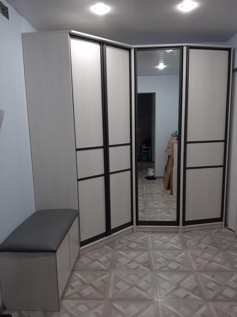 Шкаф в прихожую с интересным дизайном