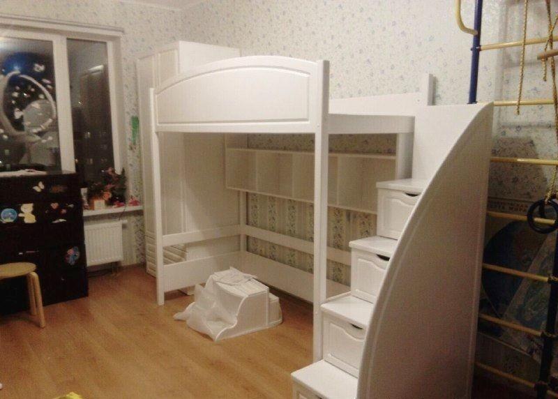 Кровать-чердак + шкаф