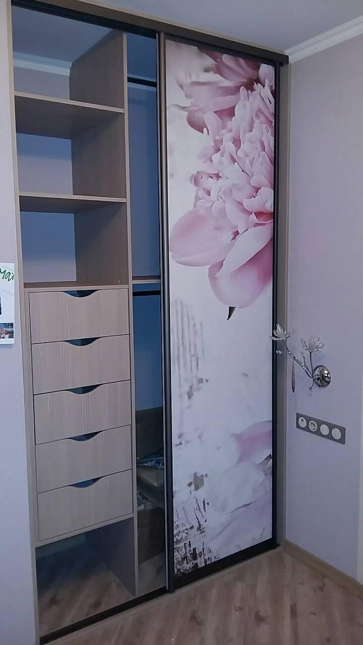 Шкаф-купе с фотопечатью цветы
