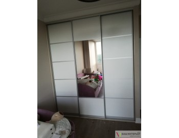 Встроенный шкаф стекло лакобель с зеркалом