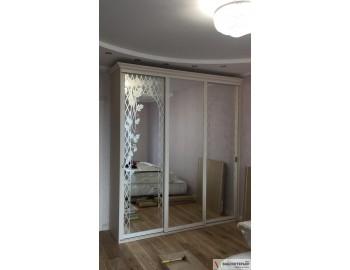 Шкаф-купе зеркало с рисунком