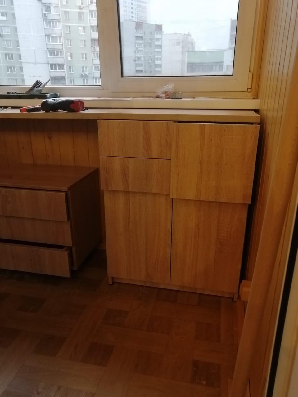 Письменный стол на балкон + тумба